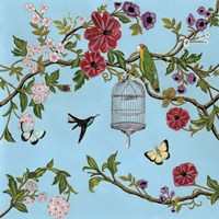 Bird Song Chinoiserie I Fine Art Print