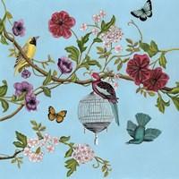 Bird Song Chinoiserie II Framed Print