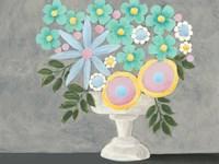 Nouveau Flowers I Framed Print