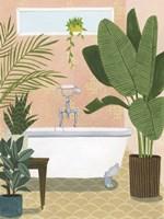 Bathtub Oasis I Framed Print