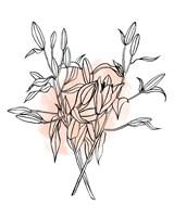 Lilies on Pink I Framed Print