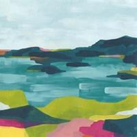 Kaleidoscope Coast I Framed Print