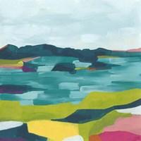 Kaleidoscope Coast II Framed Print