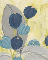 Navy & Citron Floral II Framed Print