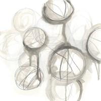 Neutral Lanterns III Framed Print
