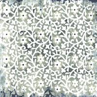 Flower Stone Tile III Framed Print
