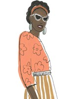 Fashion Vignette III Framed Print