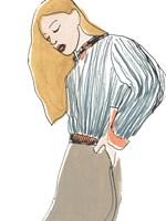 Fashion Vignette IV Framed Print