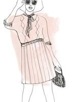 Fashion Sketches I Framed Print