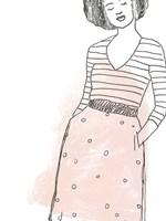 Fashion Sketches II Framed Print