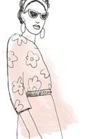 Fashion Sketches III Framed Print