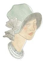 Flapper Fashion Sketches I Framed Print