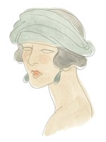 Flapper Fashion Sketches IV Framed Print