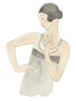 Flapper Fashion Sketches V Framed Print