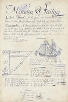 Nautical Journal III Framed Print