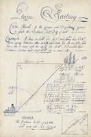 Nautical Journal IV Framed Print