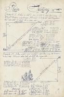 Nautical Journal VI Framed Print