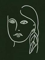 Malachite Portrait I Framed Print