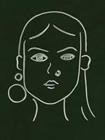 Malachite Portrait IV Framed Print