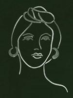 Malachite Portrait V Framed Print