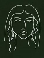 Malachite Portrait VI Framed Print