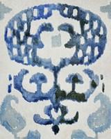 Sapphire Ikat I Framed Print