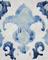 Sapphire Ikat II Framed Print