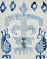 Sapphire Ikat III Framed Print