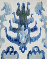 Sapphire Ikat IV Framed Print