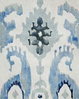Sapphire Ikat V Framed Print
