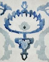 Sapphire Ikat VI Framed Print