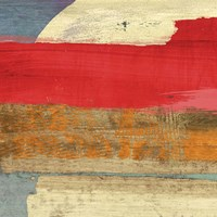 Moon Rising from the Crimson Sky I Fine Art Print