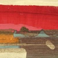 Moon Rising from the Crimson Sky II Fine Art Print