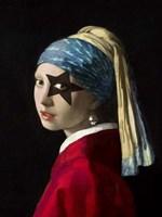 Girl with Skull Hearring Fine Art Print