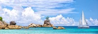 Sailboat at La Digue, Seychelles Fine Art Print