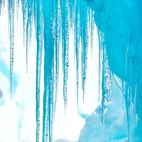 Antarctica Close-Up Of An Iceberg With Icicles Fine Art Print