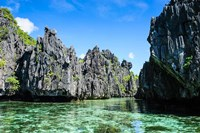 Crystal Clear Water In The Bacuit Archipelago, Philippines Fine Art Print