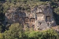 Turkey, Dalyan, Mugla Province The Six Lycian Rock-Cut Tombs Fine Art Print