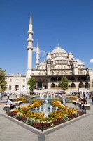Turkey, Istanbul The Exterior Of Yeni Cami Mosque Fine Art Print