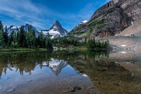 Mount Assiniboine Reflected In Sunburst Lake Fine Art Print