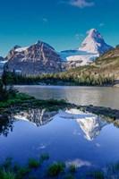 Mount Assiniboine And Mount Magog As Seen From Sunburst Lake Fine Art Print