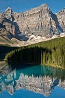 Morning, Moraine Lake, Reflection, Canadian Rockies, Alberta, Canada Fine Art Print