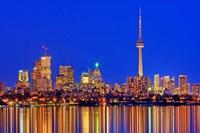 Toronto Skyline At Dusk Fine Art Print