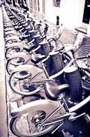 Velib Bicycles For Rent, Paris, France Fine Art Print