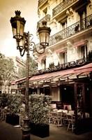 Le Metro Restaurant, Left Bank, Paris, France Fine Art Print
