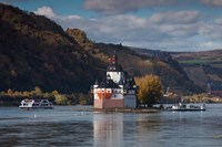 Germany, Pfalzgrafenstein Castle, 14th Centurycastle On The Rhein River Fine Art Print