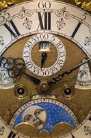 Germany, Furtwangen, Detail Of 19th Century Antique Clock Face Fine Art Print