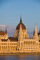 Hungary, Budapest Parliament Building On Danube River Fine Art Print