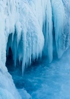 Godafoss Waterfall Of Iceland During Winter Fine Art Print