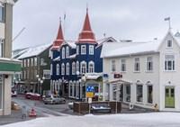 Akureyri, Iceland During Winter Fine Art Print